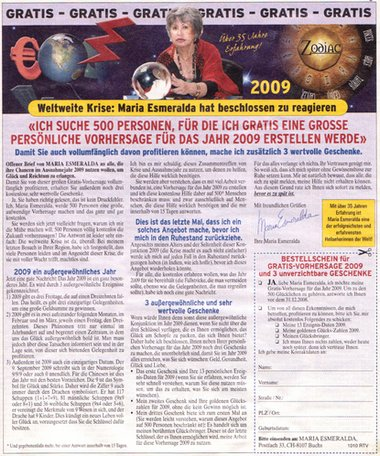 Weltweite Krise: Maria Esmeralda hat beschlossen zu reagieren